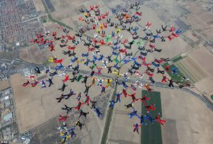 Skydiving Record